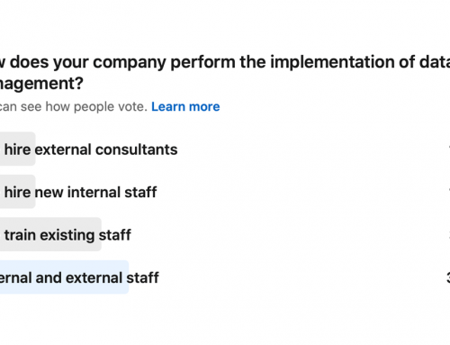 Poll: How does your company perform the implementation of data management?