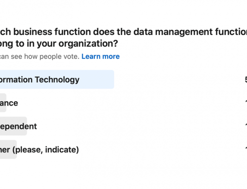 Poll: Which business function does the data management function belong to in your organization?