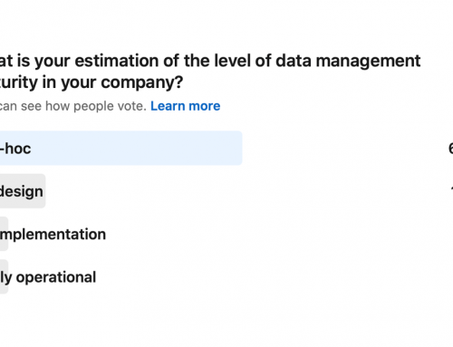Poll: What is your estimation of the level of data management maturity in your company?