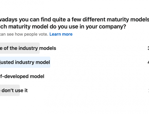 Poll: Which maturity model do you use in your company?